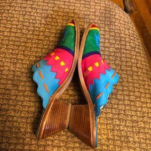 Zalo Shoes - Zalo Western Vtg Rodeo Ankle Boots Size 6 1/2 B